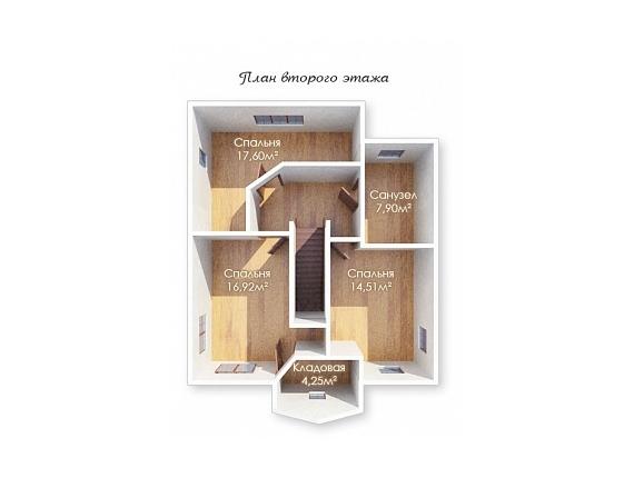План 2 этажа дачи по Ярославскому шоссе