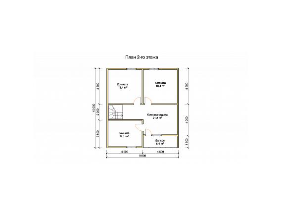 План 2 этажа дома на 151 кв м по Ярославскому шоссе