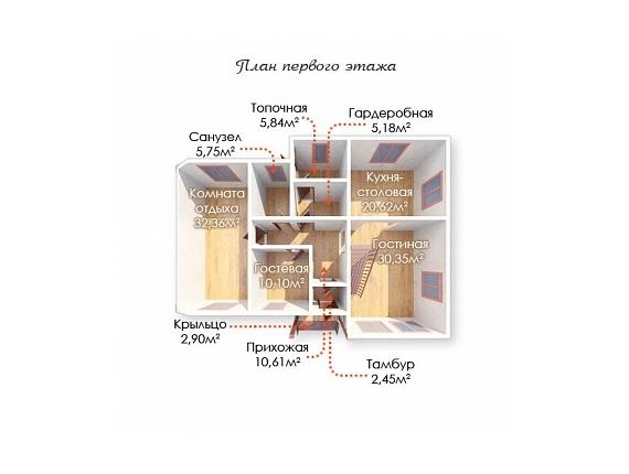 План 1 этажа дома на Ярославке