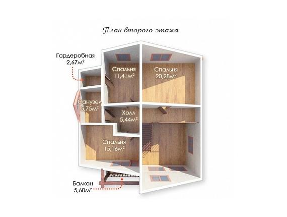 План 2 этажа дома на Ярославке