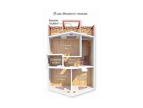 План 2 этажа коттеджа по Ярославскому шоссе