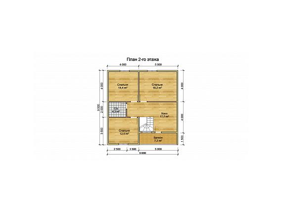 План 2 этажа дома на 138 кв.м. по Ярославскому шоссе