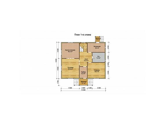План 1 этажа дома по Щелковском шоссе