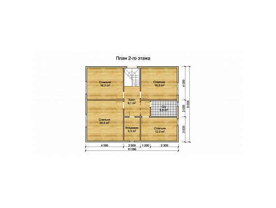 План 2 этажа дома на Щелковском шоссе